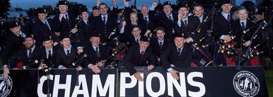 Field Marshal Montgomery Pipe Band named World Pipe Band Champions 2018