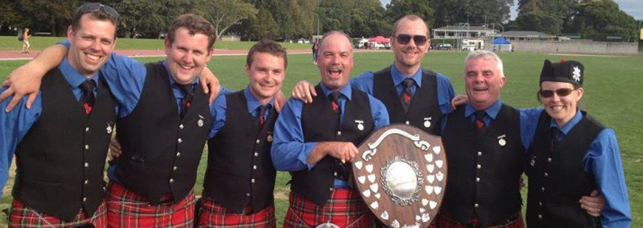 Canterbury Caledonian Society Pipe Band win championship title