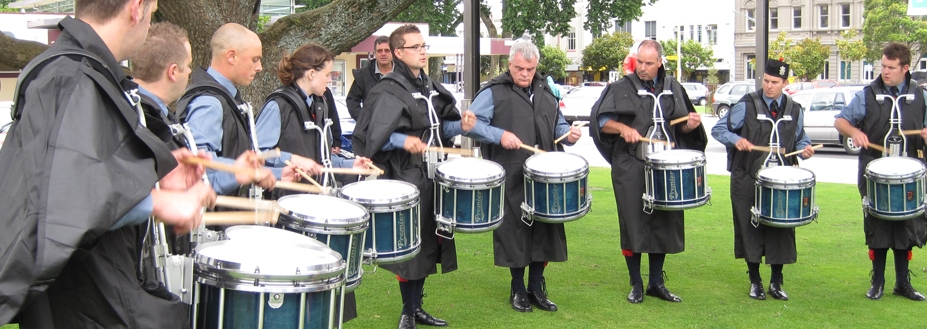 Canterbury Caledonian Society Grade 1 Pipe Band joins Premier